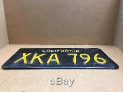 Rare Pair 1963 DMV Clear (california) Xka 796 License Plate-vintage-original