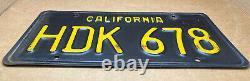 Rare Pair 1963 DMV Clear-(california)-hdk 678-license Plate