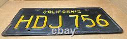 Rare Pair 1963 DMV Clear-(california)-pvg 428-license Plate