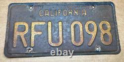 Rare Pair 1963 DMV Clear-(california)-rfu 098. License Plate