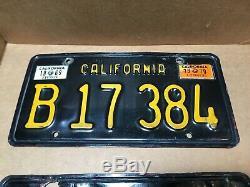 Rare Pair 1963 Truck DMV Clear-(california)-b 17 384 License Plate-1969 & 1970