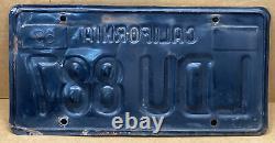 Rare Pair 1963 Yom DMV Clear-(california)- Ldu 887 License Plate