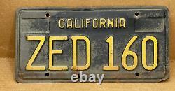Rare Pair 1963 Yom DMV Clear-(california)- Zed 160 License Plate