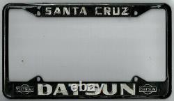 Rare Santa Cruz California SANTA CRUZ DATSUN vintage dealer license plate frame