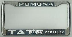 SUPER RARE Pomona California Tate Cadillac Vintage GM Dealer License Plate Frame