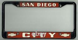 San Diego California City Chevrolet Vintage GM Impala Dealer License Plate Frame