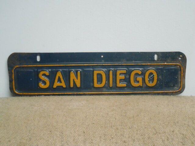 San Diego California License Plate Topper