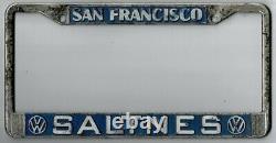 San Francisco California SALTINES Volkswagen vintage dealer license plate frame