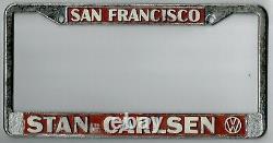 San Francisco California STAN CARLSEN VOLKSWAGEN VW dealer license plate frame