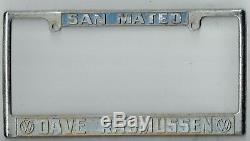 San Mateo California Dave Rasmussen Volkswagen Vintage VW License Plate Frame