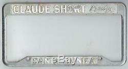 Santa Monica California Claude Short Dodge Vintage MOPAR License Plate Frame