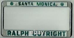Santa Monica California Ralph Cutright Volkswagen VW Porsche License Plate Frame