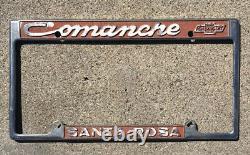Santa Rosa California Comanche Chevrolet License Plate Frame chevy impala truck
