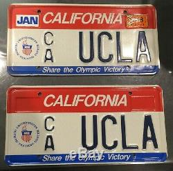 UCLA Genuine California Personalized License Plate Set of 2 BRUINS Olympics