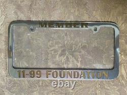 UNUSED California Highway Patrol CHP MEMBER 11-99 FOUNDATION License Plate Frame