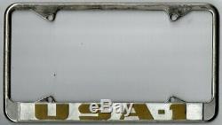 USA-1 vintage dealer Chevrolet California dealer license plate frame