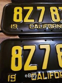 Unused mint 1951 California License Plate Pair CA original DMV mailing envelope