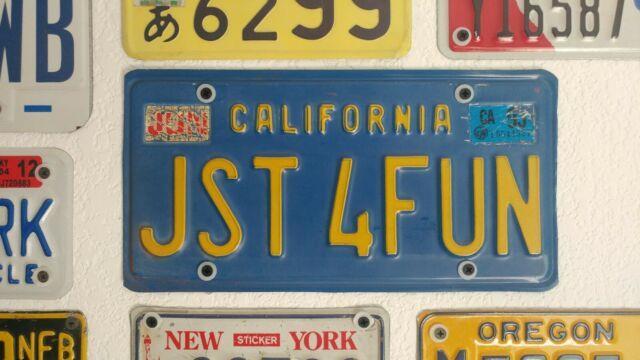 Vintage Blue California Vanity License Plate Jst 4 Fun Ca State Plate