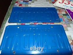 VINTAGE BLUE CALIFORNIA VANITY LICENSE PLATE Mean Mom CA State Plate 1980's
