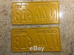 Vintage Pair Of Nos 1956 California License Plates DMV Cleared
