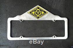 VTG California AAA License Plate Frame 20s 30s Porcelian Topper Hot Rod Rear