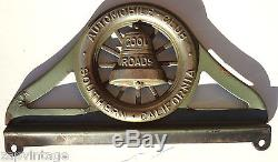 VTG License Plate Topper AAA Automobile Club Southern California REAL Deal
