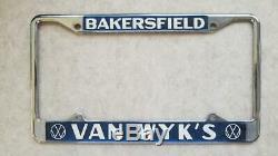 Van Wyk's VW California Vintage Dealer License Plate Frames Van Wyk Volkswagen