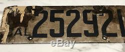 Vintage 1919 California License Plate Porcelain Star Pair
