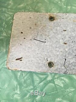 Vintage 1919 Porcelain California License Plate W Star Matching Numbers