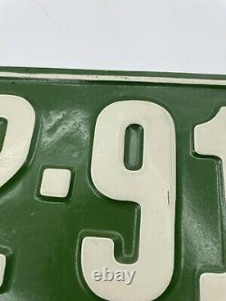 Vintage 1924 California Emergency Veh License Plate 29-910