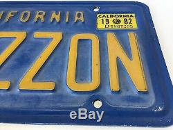 Vintage 1970s CALIFORNIA AMAZZON Blue Personalized Vanity Plate Cool Wall Art
