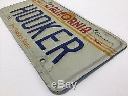 Vintage 1980s CALIFORNIA HOOKER Golden State Vanity Plate Never Get This Again