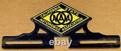 Vintage AAA CSAA California State Automobile Association License Plate Topper