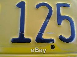 Vintage CALIFORNIA 1956 License Plates 1962 Sticker GREAT SHAPE