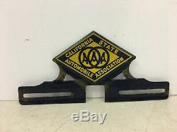 Vintage CSAA California State Automobile Association License Plate Topper AAA