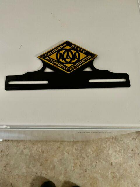 Vintage Csaa California State Automobile License Plate Topper