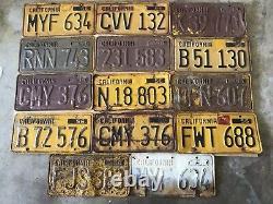 Vintage California 1956 License Plates Lot (14)