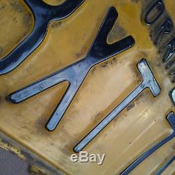 Vintage California 1956 Yellow License Plate Pair BXT719 Plates 56 CA