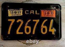 Vintage California Chopper, Bobber, Motorcycle License Plate 1963 1969 sticker