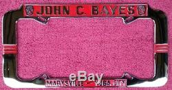 Vintage California License Plate frame Bayes Ford 1940-1963 size Yuba City