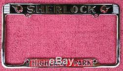 Vintage California License Plate frame Sherlock Pontiac Highland Park