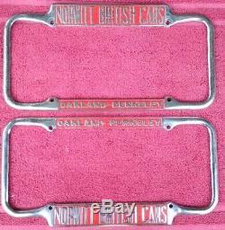 Vintage California License Plate frames Norwitt British 1940-55 size Jaguar MG