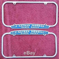 Vintage California License Plate frames Studebaker Santa Paula 1940-55 size