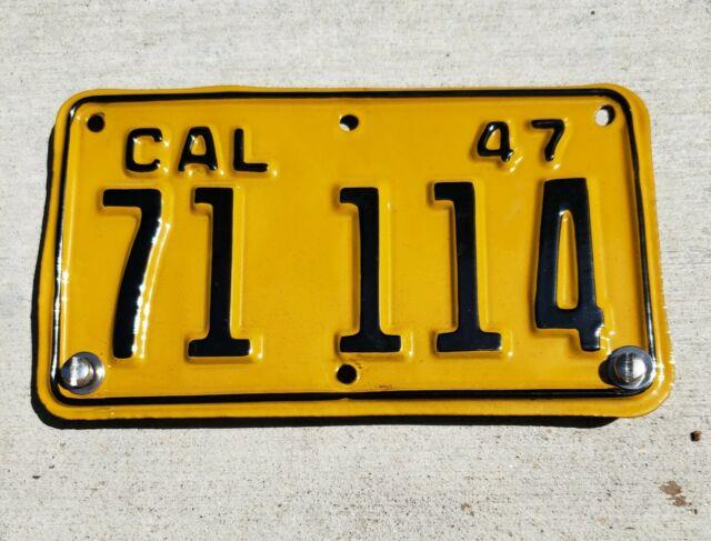 Vintage California Motorcycle License Plate Excellent Condition From 1947 1948