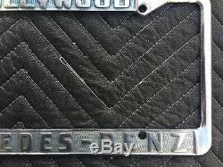 Vintage Hollywood Mercedes-benz California License Plate Frame Original