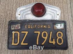 Vintage License Plate Tail Light Airstream shasta Trailer With Calif. Plate