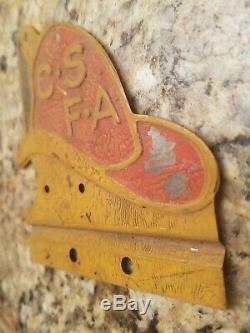 Vintage Original 1940 California State Firemans Association License Plate Topper