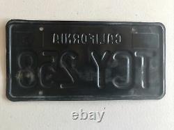 Vintage Pair of License Plates 1963 California Original