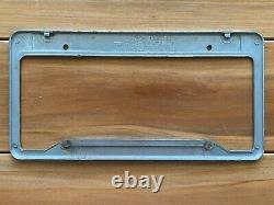 Vintage Riverside California Raceway Ford Dealership Metal License Plate Frame