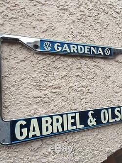 Vintage Vw Gardena California Gabriel & Olsen Volkswagen license plate frame Nos